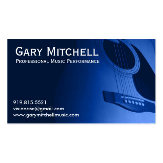 Gary Mitchell Music Business Card Template