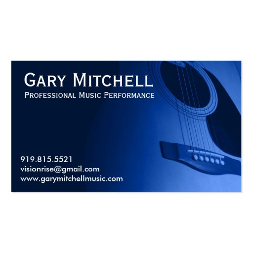 Gary mitchell music double sided standard business cards pack of 100