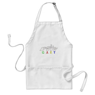 GARY NAME FINGERSPELLED ASL HAND SIGN APRON