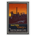 Gary Steelworks IN Poster Card