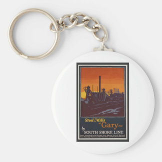 Gary Steelworks IN Poster Keychain