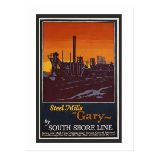 Gary Steelworks IN Poster Postcard