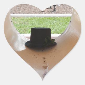 Gary Thahatt Hides in the Tube Heart Sticker