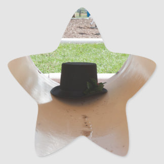 Gary Thahatt oculta en el tubo Pegatina En Forma De Estrella