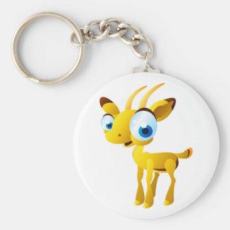 Gary The Gazelle Basic Round Button Keychain