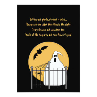 Gary the Ghost - Halloween Party Invitation