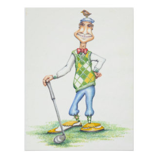 Gary the golfer poster
