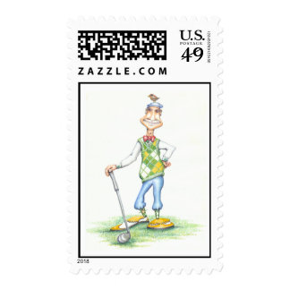 Gary the golfer stamps