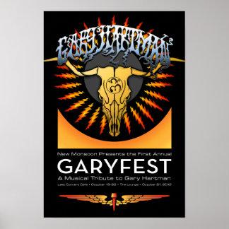 GaryFest 2012 New Monsoon Poster