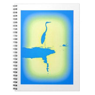 garza azul libreta espiral