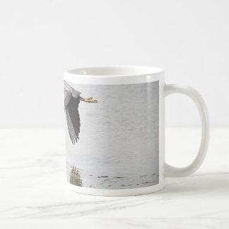 Garza azul tazas de café