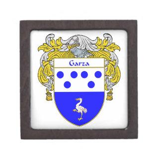 Garza Coat of Arms/Family Crest Keepsake Box