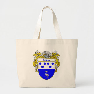 Garza Coat of Arms (Mantled) Large Tote Bag
