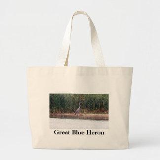 Garza de gran azul bolsas