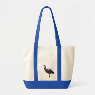 Garza de gran azul bolsas de mano