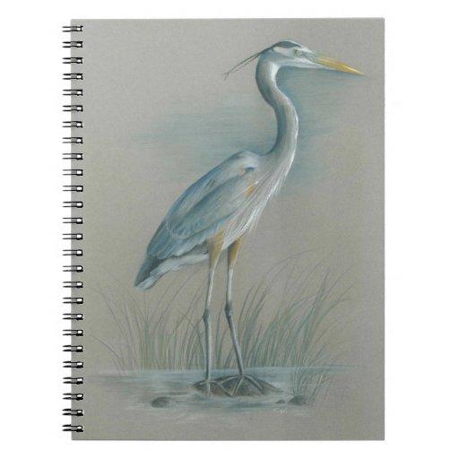 Garza de gran azul cuaderno