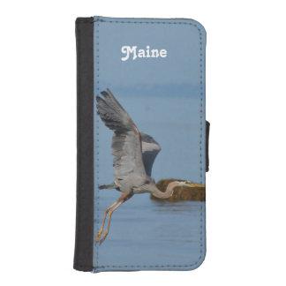 Garza de gran azul en Maine Fundas Billetera De iPhone 5
