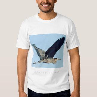 Garza de gran azul en vuelo poleras