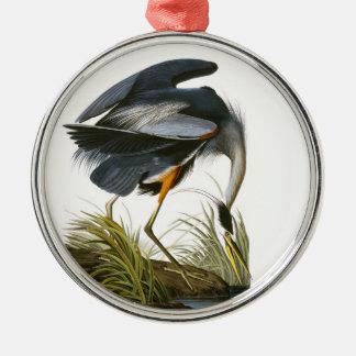 Garza de gran azul John James Audubon Adornos De Navidad