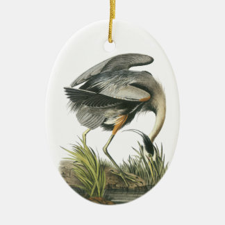 Garza de gran azul Juan Audubon Ornamento De Navidad