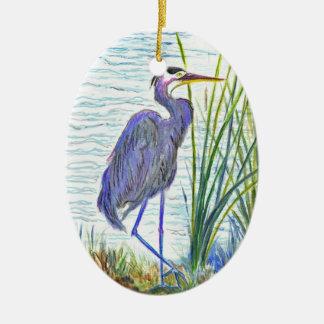 Garza de gran azul - lápiz de la acuarela adorno
