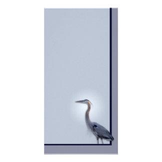 Garza de gran azul tarjeta personal