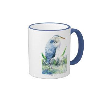 Garza de gran azul taza de dos colores