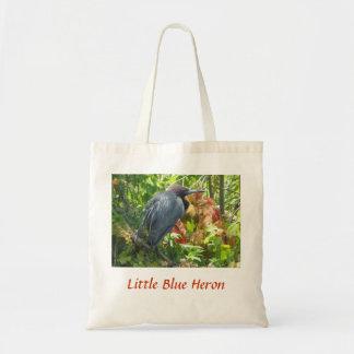 Garza de pequeño azul bolsas de mano