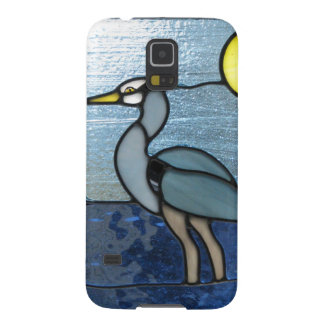 Garza del azul de PEI Funda Para Galaxy S5
