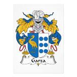Garza Family Crest Personalized Invitation