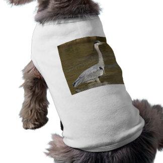 Garza gris camisetas de mascota