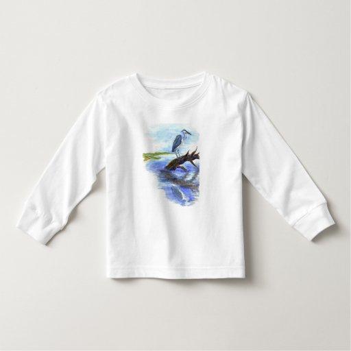 Garza Meditating - lápiz de la acuarela T-shirt
