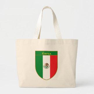 Garza Mexico Flag Shield Large Tote Bag