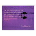 garza pacífica con el 3:17 de Zephaniah Tarjeta Postal
