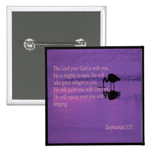 garza pacífica con el perno del 3:17 de Zephaniah Pins