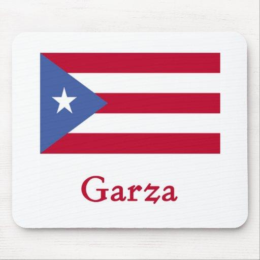 Garza Puerto Rican Flag Mouse Pad