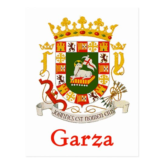 Garza Shield of Puerto Rico Postcard