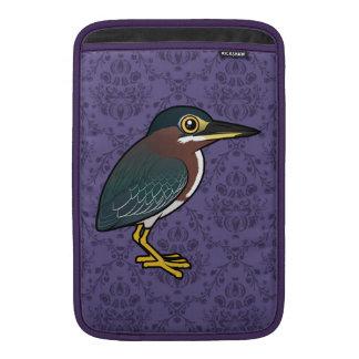 Garza verde de Birdorable Fundas Para Macbook Air