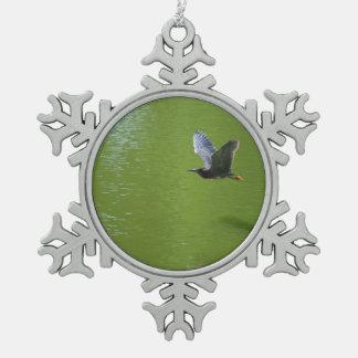 Garza verde en Mid Air Adornos