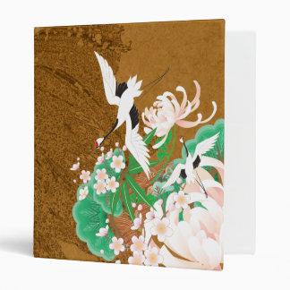 Garza y dalia - carpeta del diseño del japonés
