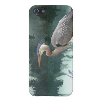 Garzas, Egret, cuervos, caso del arte de la fauna  iPhone 5 Funda