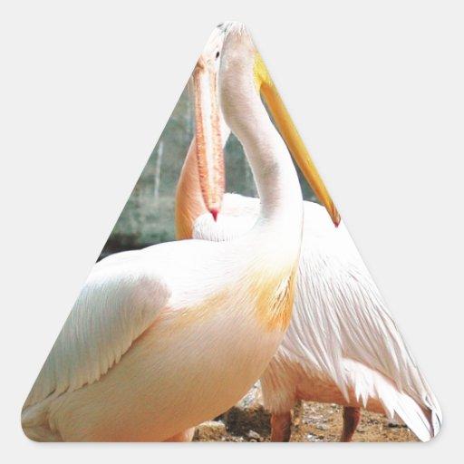 Garzas Pegatina Triangular