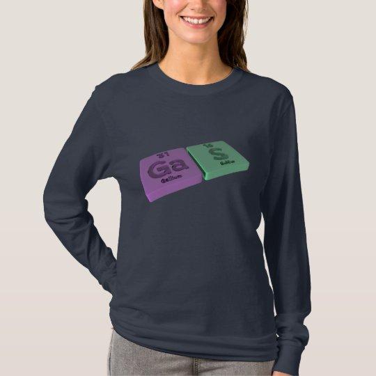 Gas as Ga Gallium and S Sulfur T-Shirt