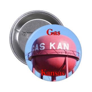 Gas, botón de Kansas Watertower Pin Redondo De 2 Pulgadas