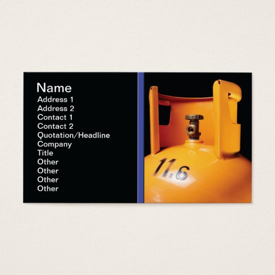 Gas bottle business card