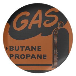 Gas Butane Propane Dinner Plate