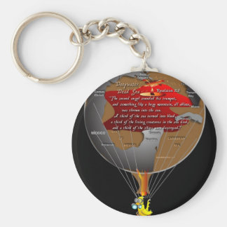 Gas Can Canary and Revelation 8:8 Keychain