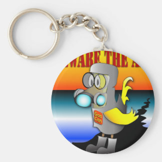 Gas Can Canary in HazMat suit Keychain