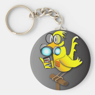 """Gas Can"" Canary Keychain"