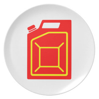 Gas Can Dinner Plates